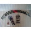 Brake line kit SS Braided Flex Gen 2  96.5  -  02